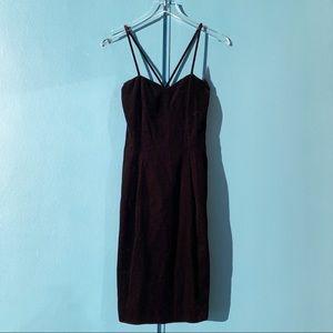 Vintage 90s Ann Taylor Velvet Midi Slip Dress S